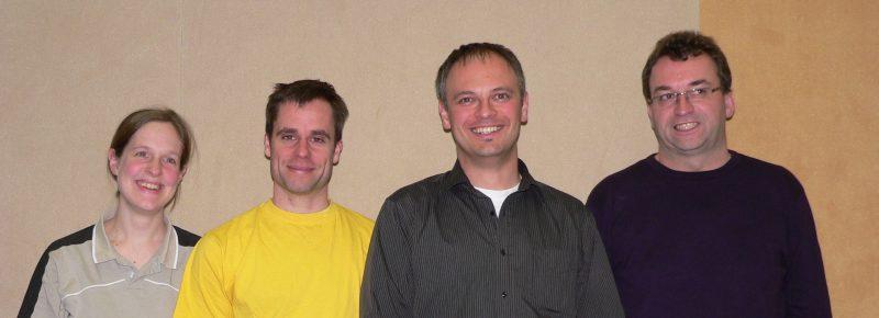 Der Badminton-Vorstand: Henriette Küpper, Michael Küpper, Andreas Weller, Peter Bastin (v.l.)