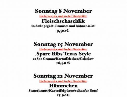 Das Clubheim November Aktionen
