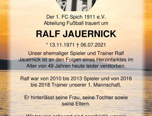 Trauer um Ralf Jauernick