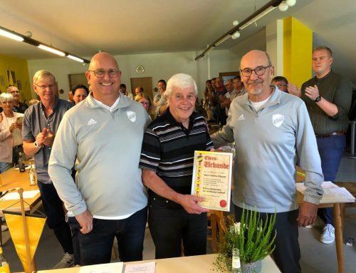 Heiner Küpper wird Ehrenvorsitzender der Abteilung Lauftreff!